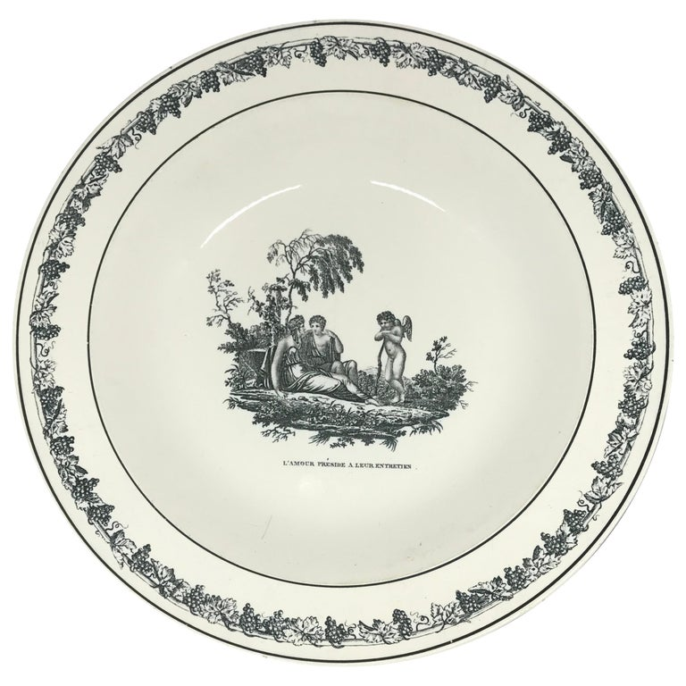 Creil Creamware Plates For Sale