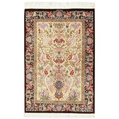 Persian Silk Small Scatter Size Qum Rug