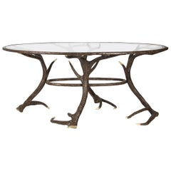 Metal Faux Deer Antler Table