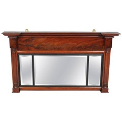 William IV Period Mahogany Overmantel Mirror