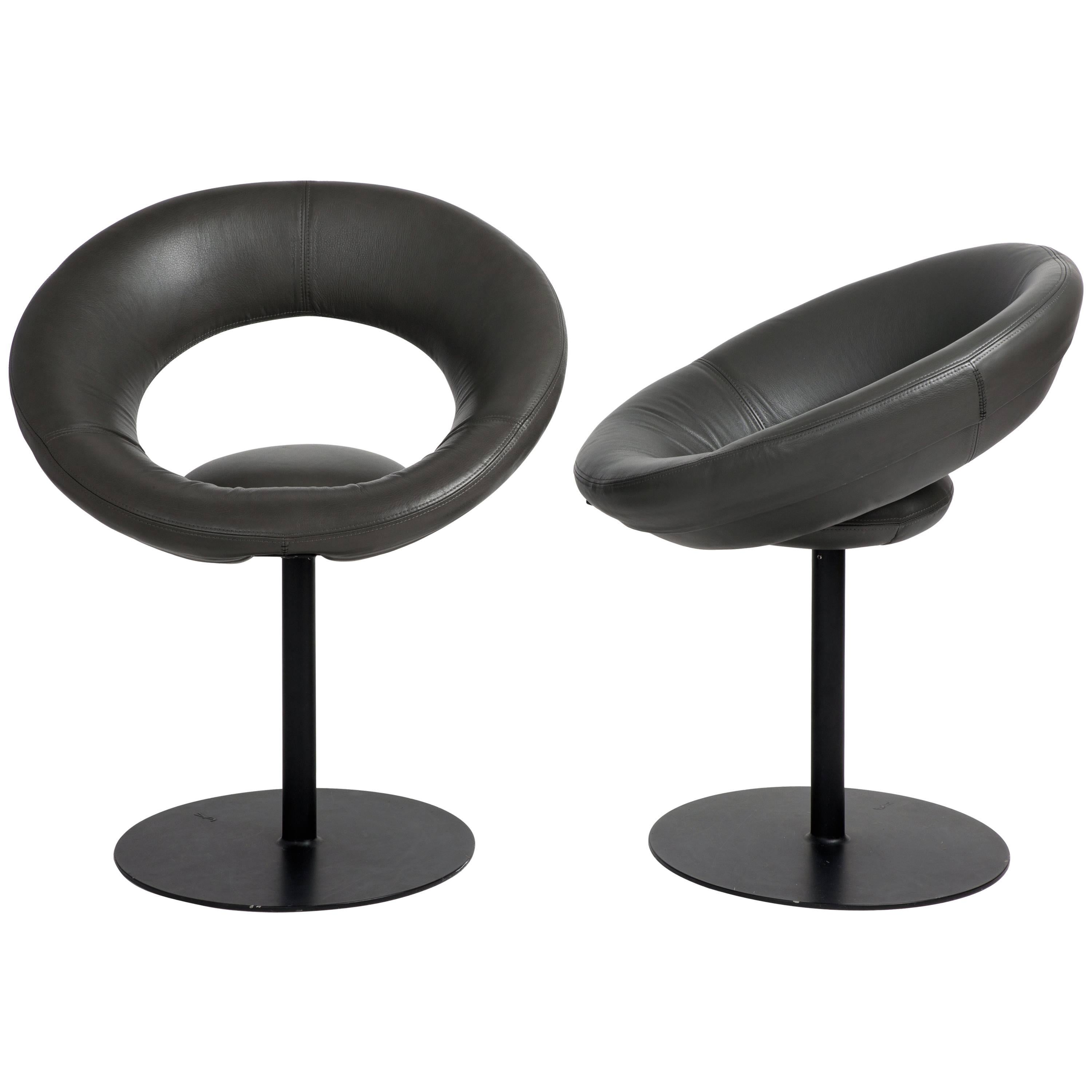 Ricardo Fasanello Anel Leather Dining Chairs, Set of Two