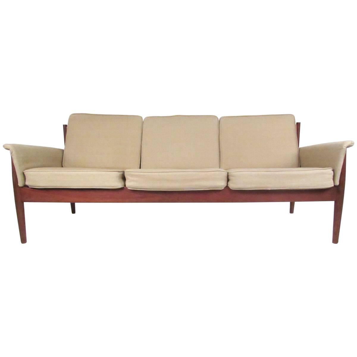 Scandinavian Modern Teak Sofa by Grete Jalk