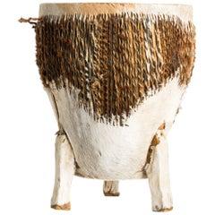 Vintage 1960s Cowhide Drum