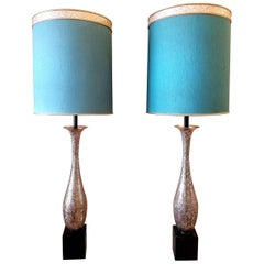 Mid-Century Pair of Anglo Indian Large Table Lamps