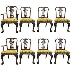 Set of Eight Georgian Style Mahogany Dining Chairs by Schmieg and Kotzian