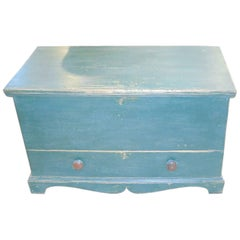 Canadian Painted Blanket Box with Drawer