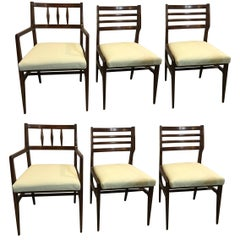 Set of six danish modern dining chairs for sale at 1stdibs for R way dining room furniture