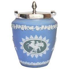 Tri Colored Wedgewood Biscuit Jar