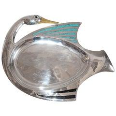 Los Castillos -Taxco, Mexico Silver Plated Serving Tray