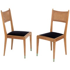 Pair of Vintage French 1950s Dining Chairs