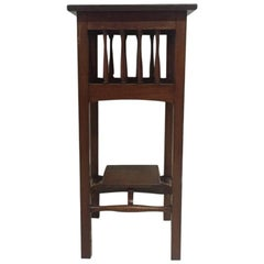 Liberty & Co attri, Walnut Plant Stand turned uprights & Removable Lower Tier