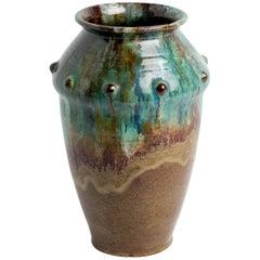 Vintage, 1950s Glazed Ceramic Primavera Vase