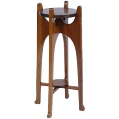 Liberty & Co. A Glasgow School Arts and Crafts Oak Plant Stand