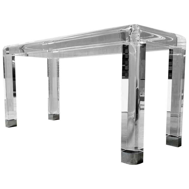 20th Century Lucite Console Table