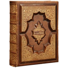 19th Century American Holy Bible with Leather Cover Dated 1876
