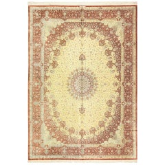 Silk Room Size Persian Qum Rug
