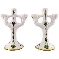 Signe Steffensen for Kähler, Pair of Candelabra of Ceramics