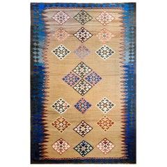 Memorable Early 20th Century Azeri Kilim Rug