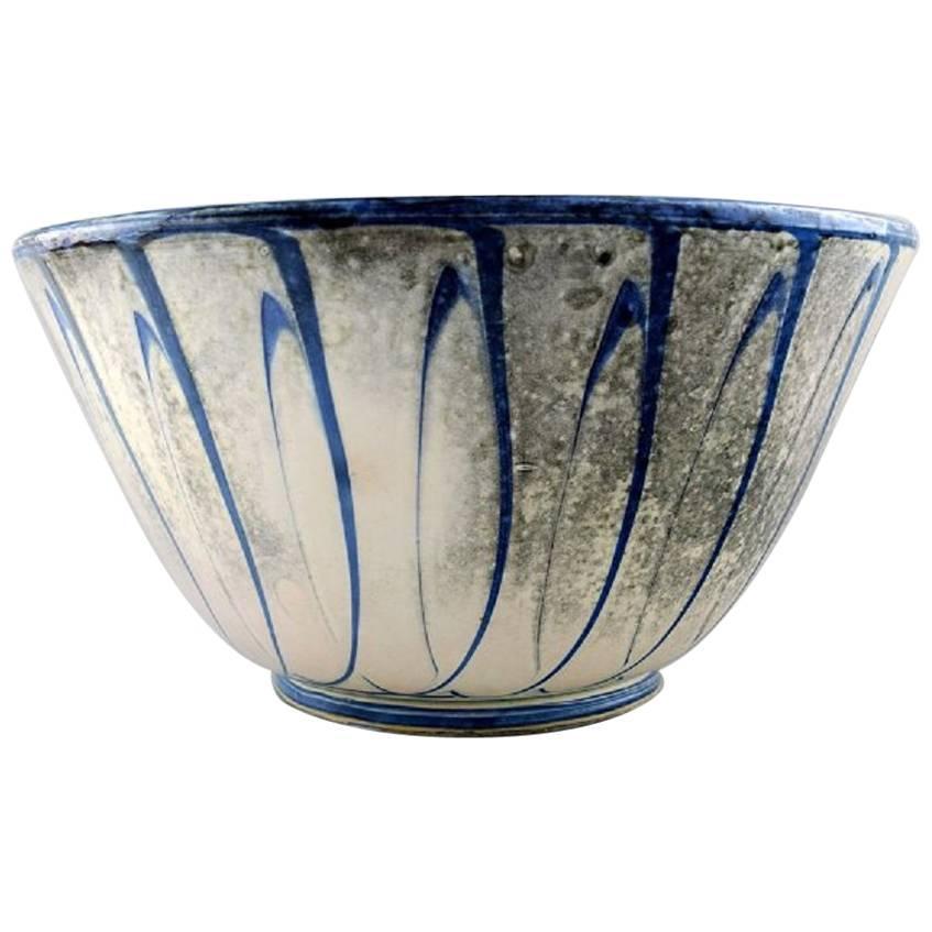 Kahler, Denmark, Large Glazed Stoneware Bowl