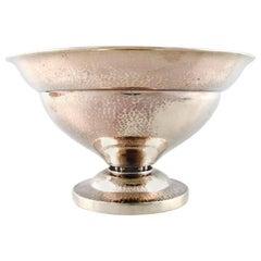 Johan Rohde for Georg Jensen Bowl/Centrepiece, Lightly Hammered Sterling Silver