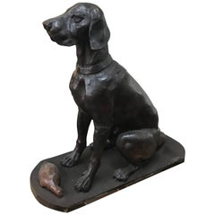 Antique Cast Iron Dogs, circa 1920
