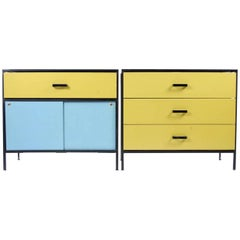 Pair of Original Steel Frame Series Dressers for Herman Miller