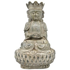 Bronze Earth Buddha on Lotus Seat
