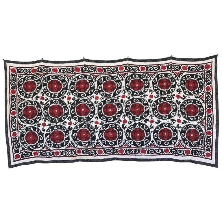 Monumental Vintage Uzbek Suzani Blanket or Tapestry