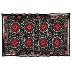 Large Vintage Uzbek Suzani Blanket or Tapestry