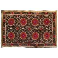 Vintage Uzbek Suzani Blanket or Tapestry