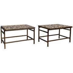 Dunbar Murano Tile Top Tables