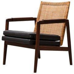 P.J Muntendam Mid-Century Low Back Rattan Lounge Chair