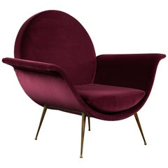 Round Back Sculptural Italian Easy Chair