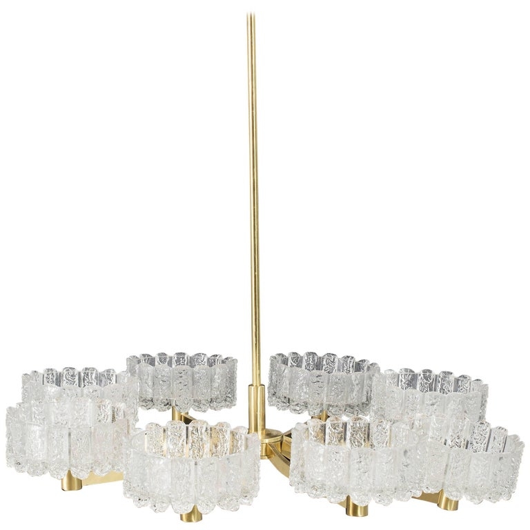Large Chandelier, Orrefors Attributed
