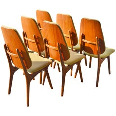 Arne Hovmand-Olsen Teak Dining Chairs, Set of Six, Danish Modern