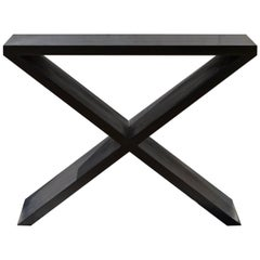 X-Form Console Table in Charcoal Pitch Finish
