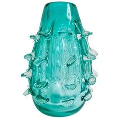 "Modern Murano Style Art Glass ""Sea Urchin"" Vase"