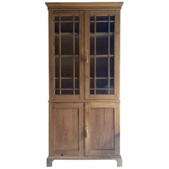 Antique Bookcase Dresser Display Cabinet Pine Victorian 19th Century, circa 1875