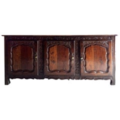 Louis XV Sideboard Dresser Credenza Antique French, 18th Century, 1750