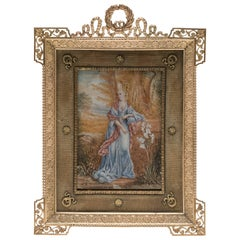 Ribbon Bronze Gilt Picture Frame