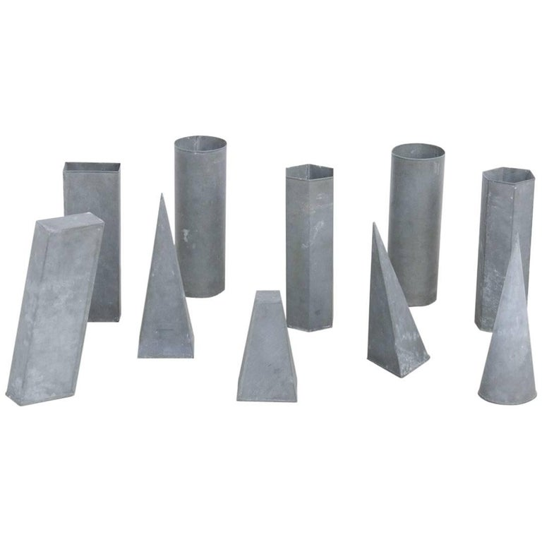Set of Ten Zinc Geometric Models