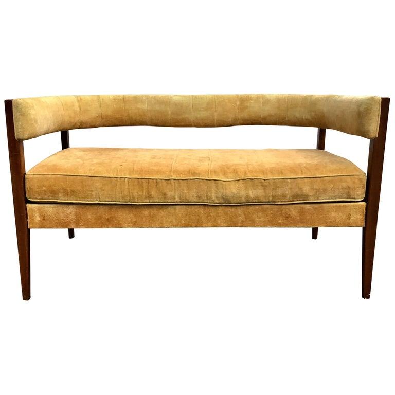 Rare Modernist Settee Designed by John Van Koert, Drexel Counterpoint