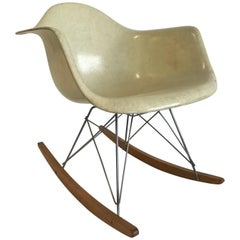 Charles Eames Zenit RAR Rocker Chair First Edition Rope Edge Color Lemon