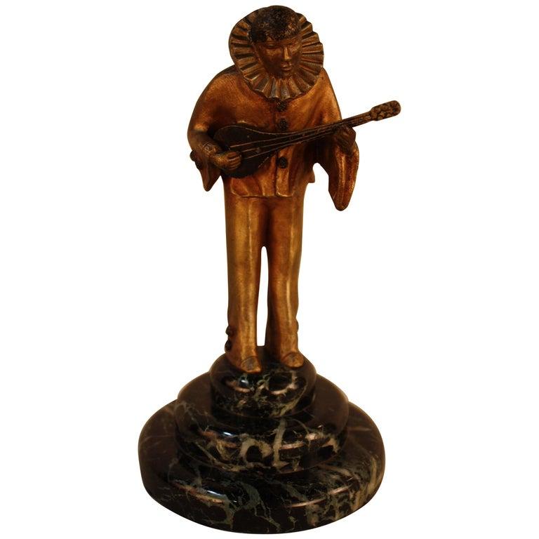 Art Deco Harlequin Bronze Sculpture