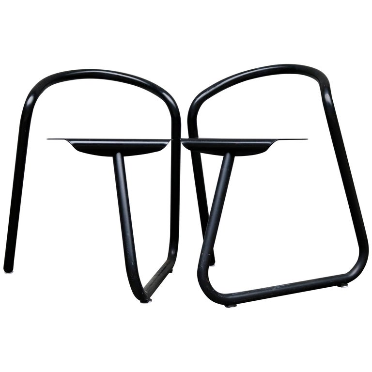 Two Aluminum Chairs from the 1970s by the Danish Designer Erik Magnussen For Sale