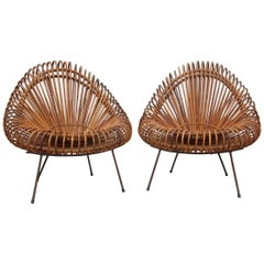 Dal Vera Bamboo Chairs Rare Mid-Century Italian Design