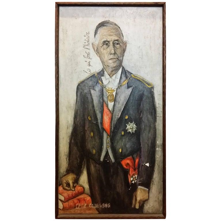 Charles De Gaulle Portrait by René Cazassus