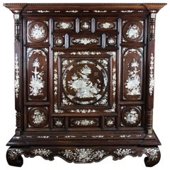 19th Century Rosewood Chest, Inlaid with the Mother-of-Pearl