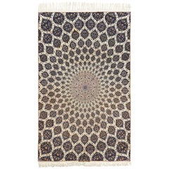 Geometric Vintage Isfahan Persian Rug