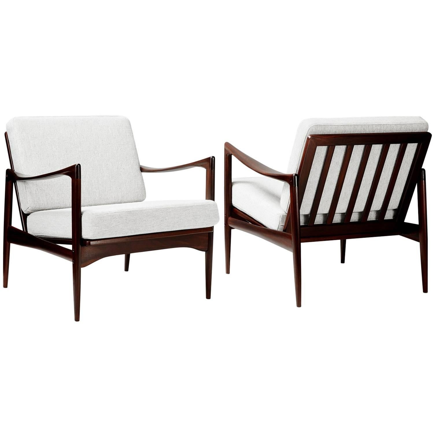 High Quality Pair Of Ib Kofod Larsen Candidate Chairs, 1960s 1